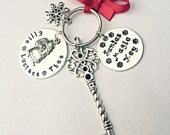 Santas Magic Key, Magic Santa Key, Santa Key, Personalised Magic Key, Christmas Keepsake, Christmas Key, Hand Stamped Santa Key, Keepsake