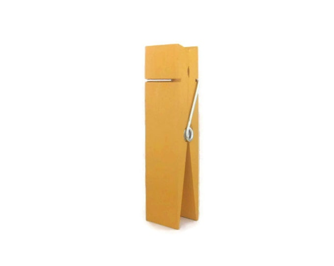 Large Clothespin. Marigold Yellow. Wedding Decor. Table Number Holder. Photo Holder. Recipe Card Holder. Party Decor. Home Decor.