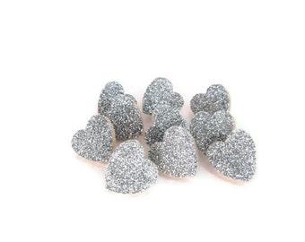 Heart Push Pins. Silver Glitter. Thumb Tacks. Heart Thumb Tacks. Dorm Decor. Wood Heart Tacks. Memo Board Pins. Office Supplies.