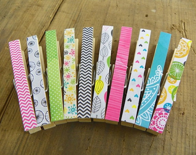 Clothespin Magnets. Fridge Magnets. Decorative Magnet Clothespins. Memo Clips. Hostess Gift. Wedding Favors. Gifts for Her. Gifts under 20.