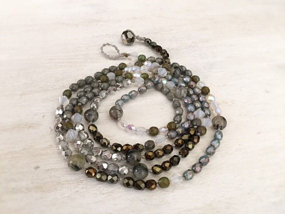 Boho Luxe Wrap Bracelet. Beaded Bracelet. Glass Beaded Bracelet. Wrap Bracelet for Women. Beaded Necklace. Teen Girl Jewelry. Boho Jewelry