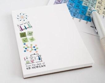 Chemistry Personalized Notepad/ Chemistry Teacher Notepad/ Science  Notepad/ Biochemistry Notepad