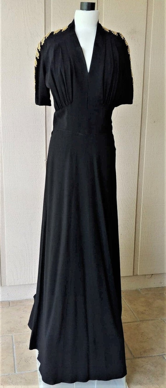WWII 1940s Evening Gown  Medium