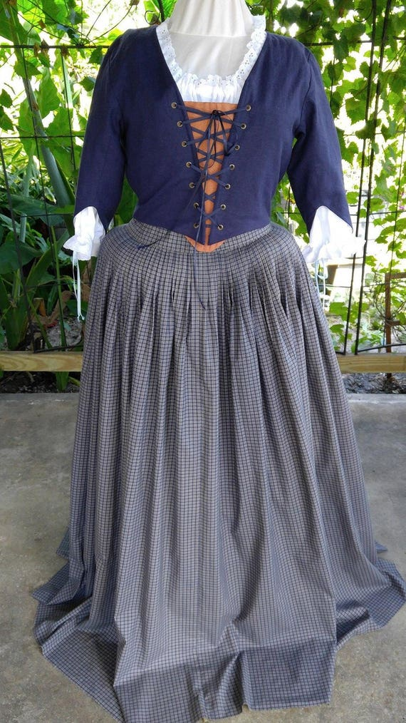 18th Century, Colonial 4 Piece Outlander Ensemble, L/XL