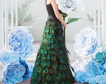 d49544e85 Peacock Feather Couture Full Length Skirt