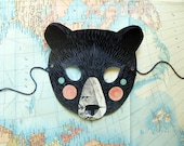 Black Bear Paper Mask, Woodland Forest Party or Wedding Favor