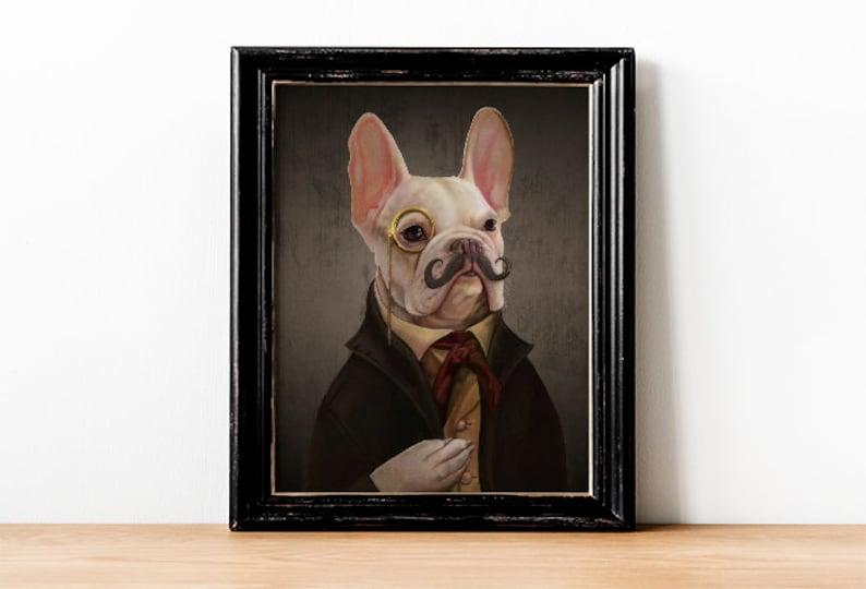 d883e271 SOBER Mortecai the French Bulldog Art Gentleman Victorian   Etsy