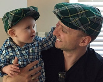 Father and Son Flat Caps Matching Father Son Christmas Hats  d827ae97521