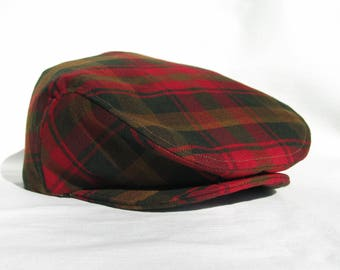 7c26b286334 Canadian Maple Leaf Tartan Newsboy Flat Cap - Gentleman Gift - Photo Prop -  Man Hat - Made In Canada Hat - Tartan Hat.  39.99