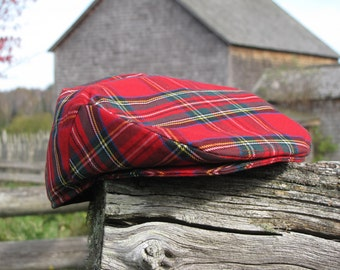 efb9a7635d9a5 Royal Stewart Newsboy Flat Cap Great For Scottish Occasions or Summer  Festivals