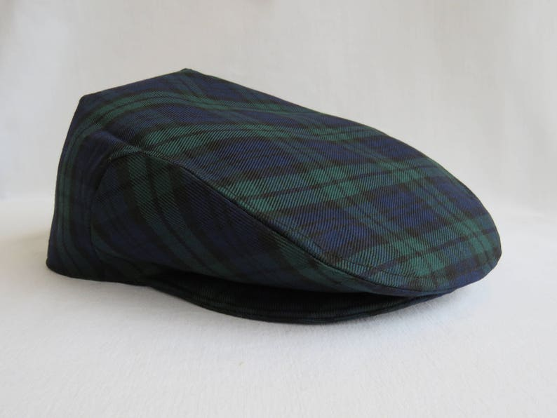 b324f92cd24 Black watch hat black watch tartan flat cap english hat etsy jpg 794x596 Black  watch tartan