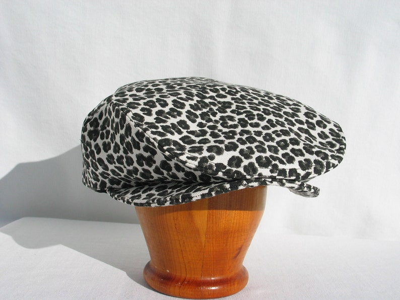 645fb478c32 Leopard Print Newsboy Hat Safari Newsboy Leopard Flat Cap