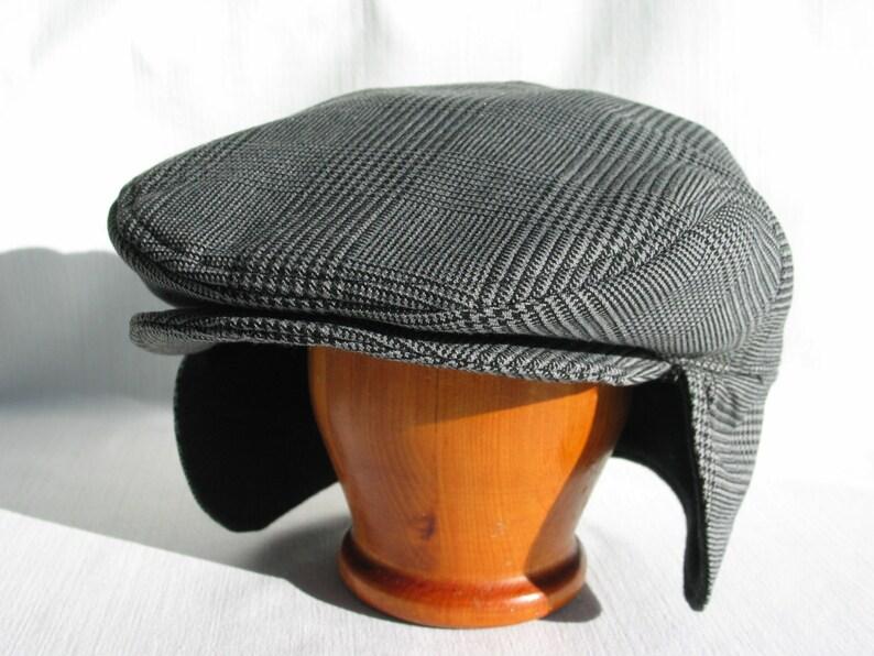 4f6bf88b174 Glen Check Hat with Ear Flaps Glen Urquhart Check Flat Cap