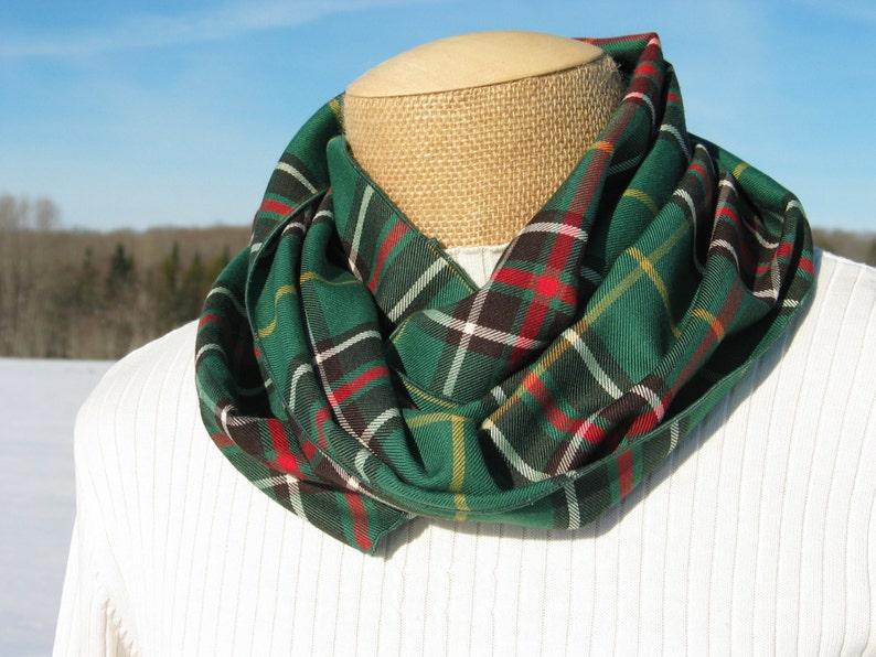 10f3bd7c2 Newfoundland Scarf, Newfoundland Tartan Infinity Scarf, NL Green Plaid  Tartan Circle Scarf Gift for Ladies, Infinity Scarf, Canadian Scarf