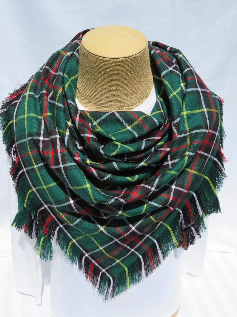 b118b51b5ebe2 Newfoundland Tartan Blanket Scarf Green Plaid Blanket Scarf   Etsy
