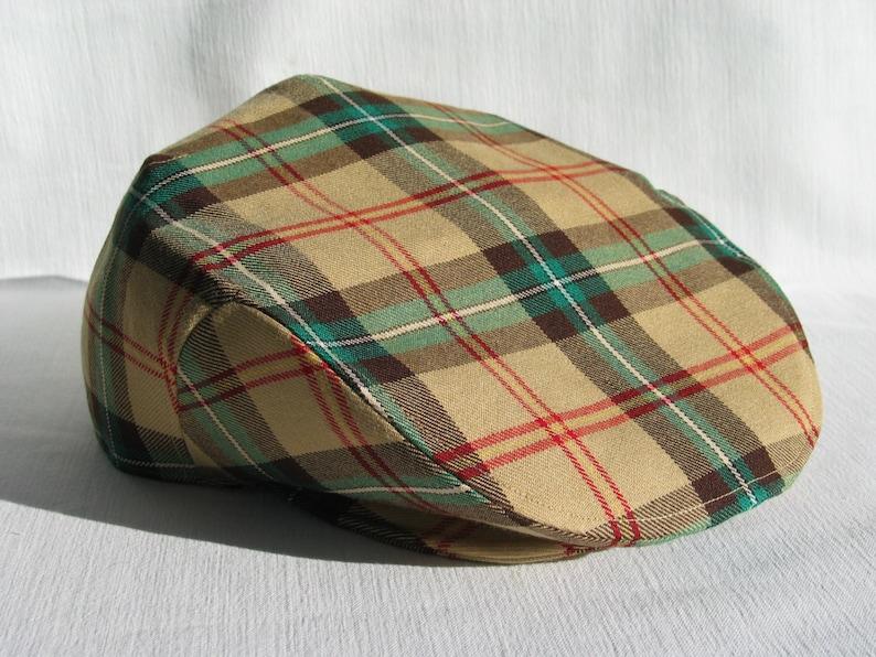 248d59e260d77 Saskatchewan krata płaska czapka Saskatchewan Prairie | Etsy