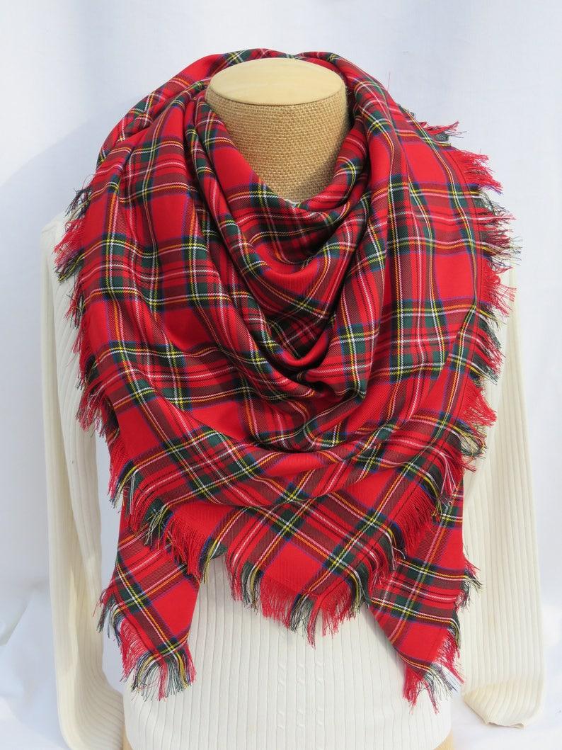 a4fad5ef0d518 Royal Stewart Tartan Blanket Scarf Large Tartan Scarf Red | Etsy