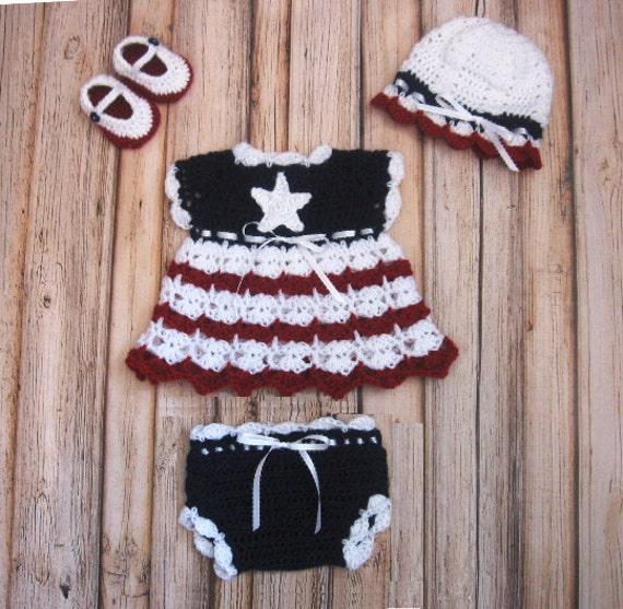 4 Juli häkeln stricken Baby Kleid Neugeborenen Baby Kleidung | Etsy