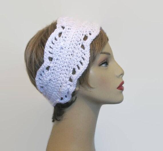 Weiß häkeln Stirnband mit Blume häkeln Stirnband stricken Kopf   Etsy