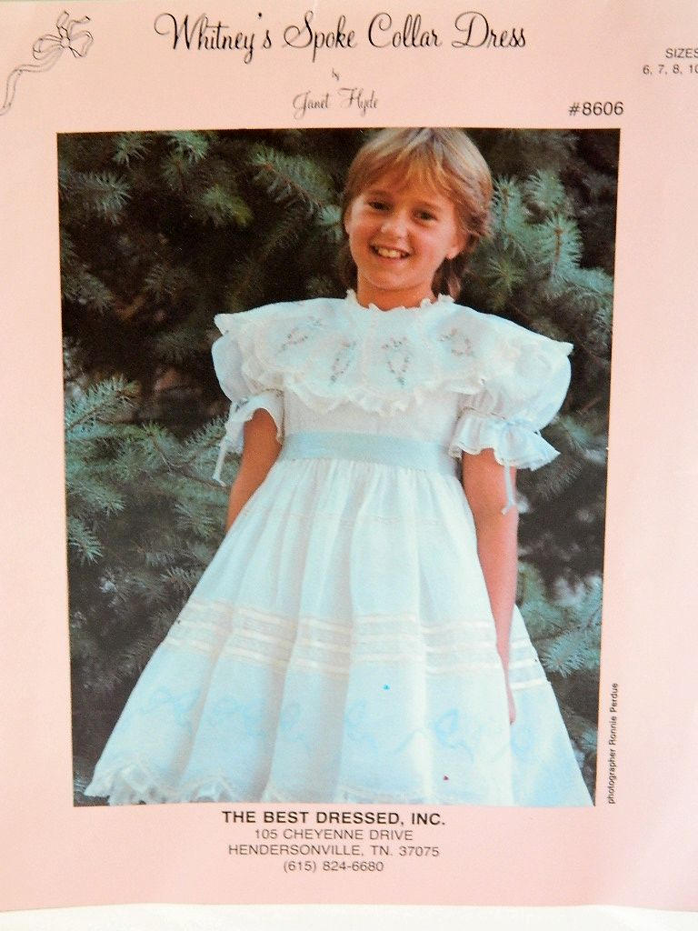Heirloom Dress Pattern - Whitney\'s Spoke Collar Dress - Janet Hyde ...