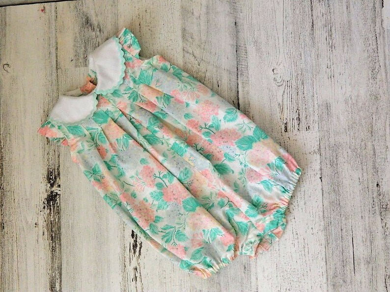fb117f1a1 Baby Girl Floral Bubble Newborn Baby Girl Clothes Spring | Etsy