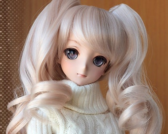 Dollfie Dream DD SD 1/3 Twin tail pink wig 23cm [June quota FULL, New Batch Pre-order]