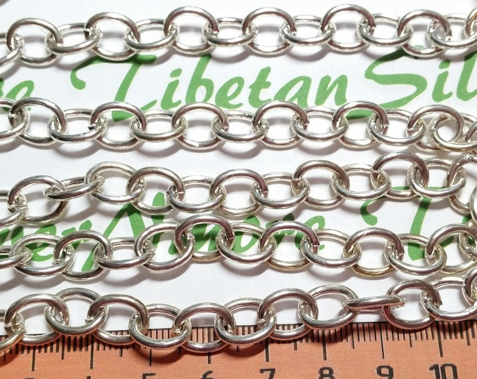 2 ft. per pack 10x8mm Smooth plain Oval chain Antique Silver Lead free Pewter