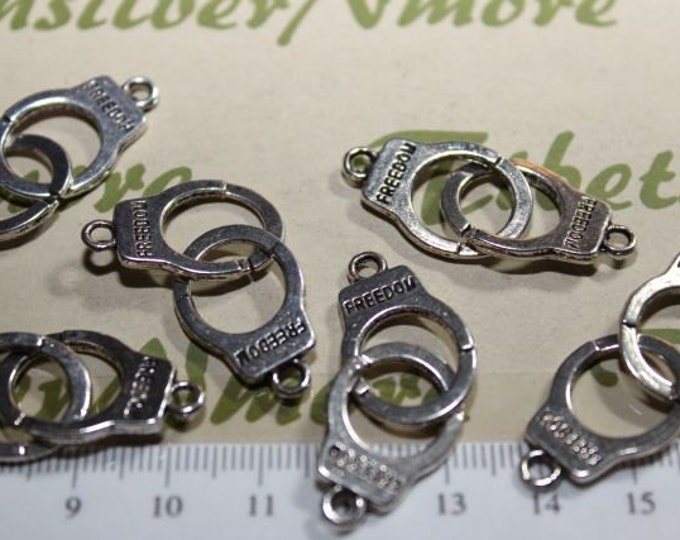 10 pairs per pack 30mm Hand cuff Link Antique Silver or Gold Finish Lead Free Pewter