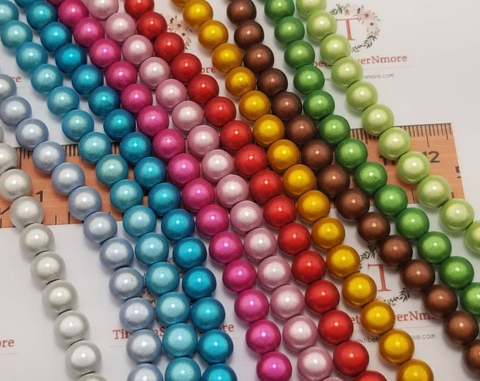 1 strand of 6mm Miracle Lucite Beads 65 beads per strand  in color to choose.