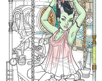Frankie's Girl - Coloring Page - Instant Download