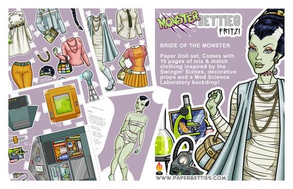 Monster Betties Fritzi Paper Doll