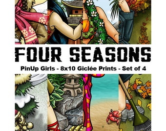 Four Seasons : Full Set - 8x10 Giclee Prints