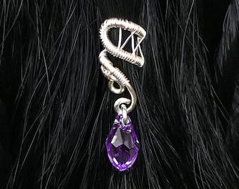 Bridal Hair Piece, Beaded Hair Cuff, Unique Wedding Jewelry, Bridal Hair Jewelry, Wedding Hair Clip, Bridal Hair Accessories, Headpiece