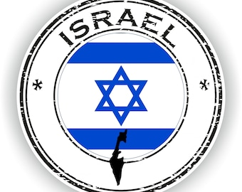Israel Map Flag Silhouette Sticker for Laptop Book Fridge Guitar Motorcycle Helmet ToolBox Door PC Boat