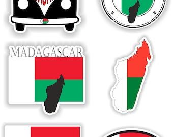 Antananarivo Madagascar Flag Stamp Car Bumper Sticker Decal 5/'/' x 5/'/'