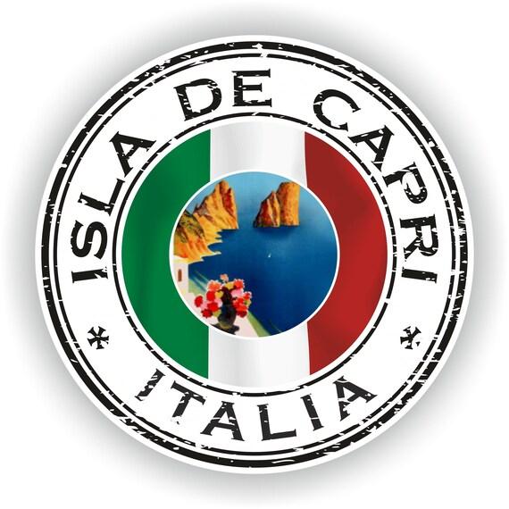 Italien Capri Siegel Aufkleber Runde Flagge Für Laptop Buch Kühlschrank Gitarre Motorrad Helm Toolbox Tür Pc Boot