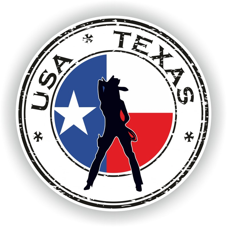 USA Texas Stamp Seal Sticker Decal for Car Laptop Tablet Fridge #01