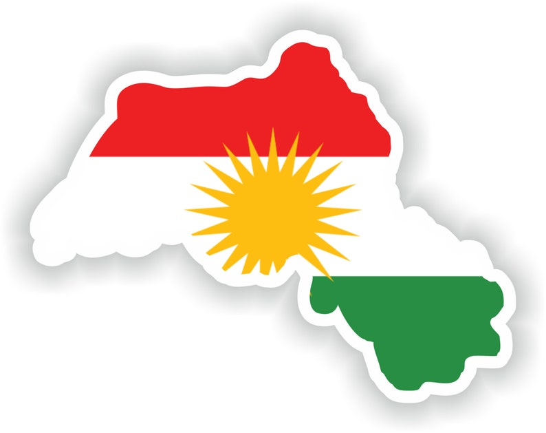 Kurdistan Karte 2019.Kurdistan Map Flag Silhouette Sticker For Laptop Book Fridge Guitar Motorcycle Helmet Toolbox Door Pc Boat