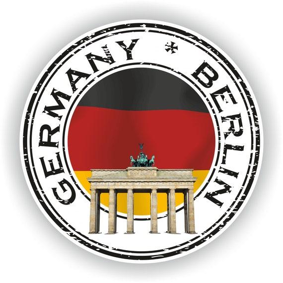 "Berlin City Germany Grunge Travel Stamp Car Bumper Sticker Decal 5/"" x 4/"""