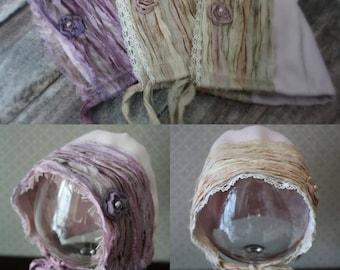 PDF SEWING pattern - Newborn Eden Madison Rustic Fabric bonnet PATTERN #111