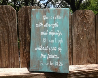 Proverbs 31 Wood Sign, Christian Wall Art, Proverbs 31 Woman, Farmhouse Wood Sign, Rustic Wood Sign