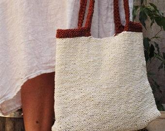 Summer tote Crochet bag city net market bag eco-friendly fashion gift idea for her mom girl