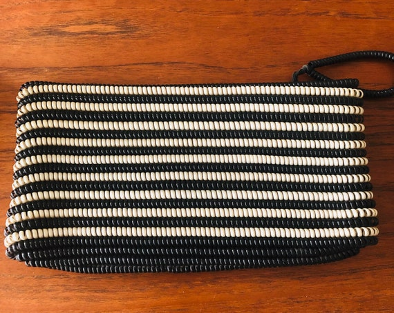 HUGE Black and White 1940s Vintage Telephone Cord