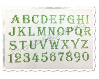2 5 Algerian Machine Embroidery Font Alphabet   Etsy
