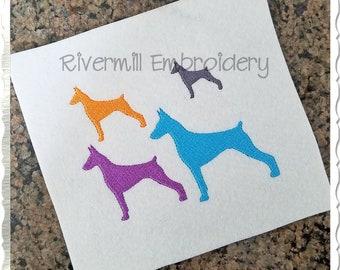 """Heart Pinscher Dog vinyl car decal 6/""""G34 pets animals min pin puppies paw gift"""