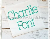 Charlie Machine Embroidery Font Monogram Alphabet - 3 Sizes