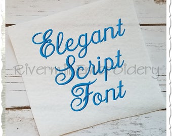 Elegant Script Machine Embroidery Font Monogram Alphabet