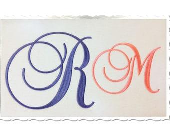 Large Brock Script Machine Embroidery Font Monogram Alphabet - 3 Sizes