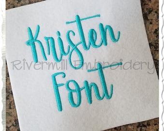 Kristen Machine Embroidery Font Monogram Alphabet - 3 Sizes