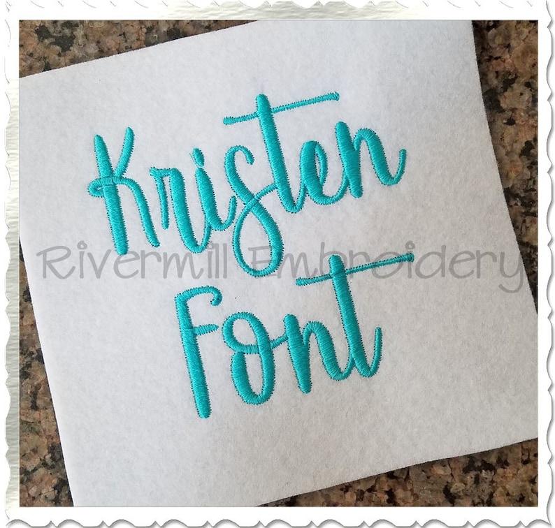 Kristen Machine Embroidery Font Monogram Alphabet - 3 Sizes photo